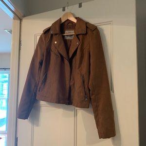 Levi's brown suede moto jacket